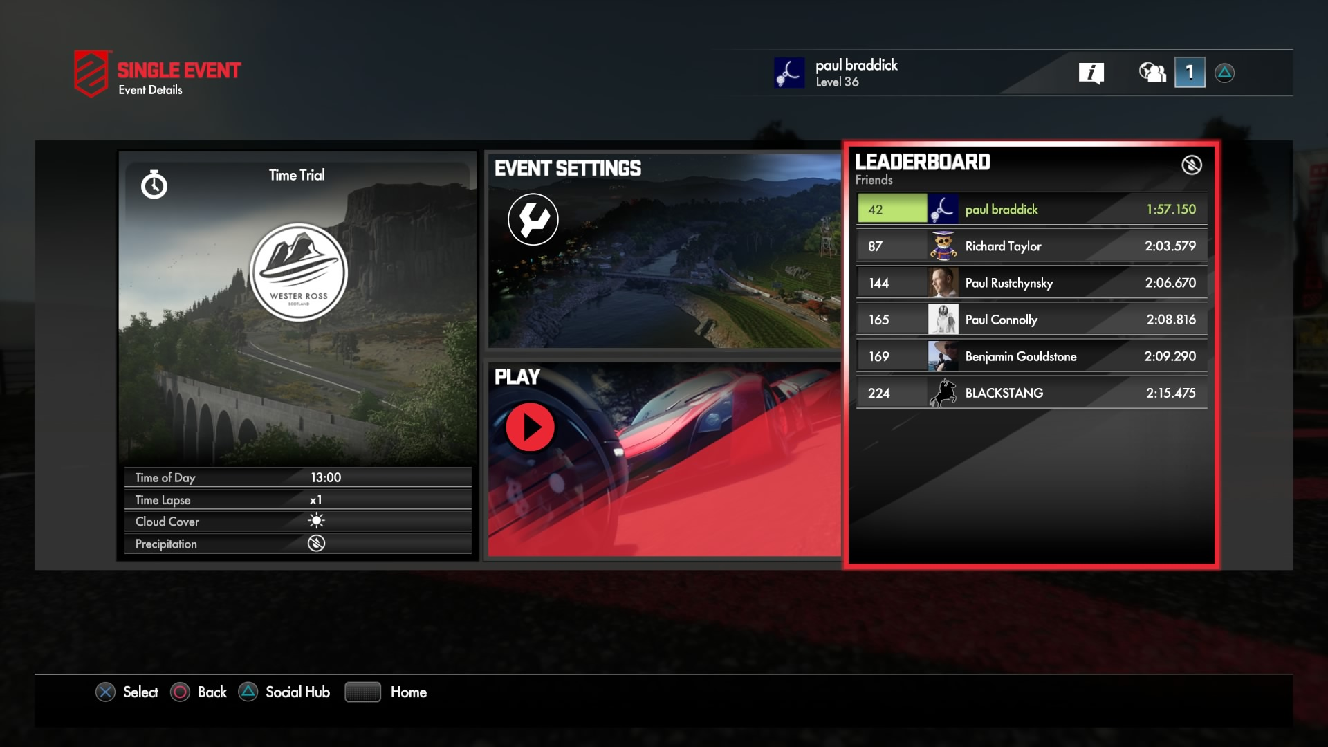 Driveclub GUI Development