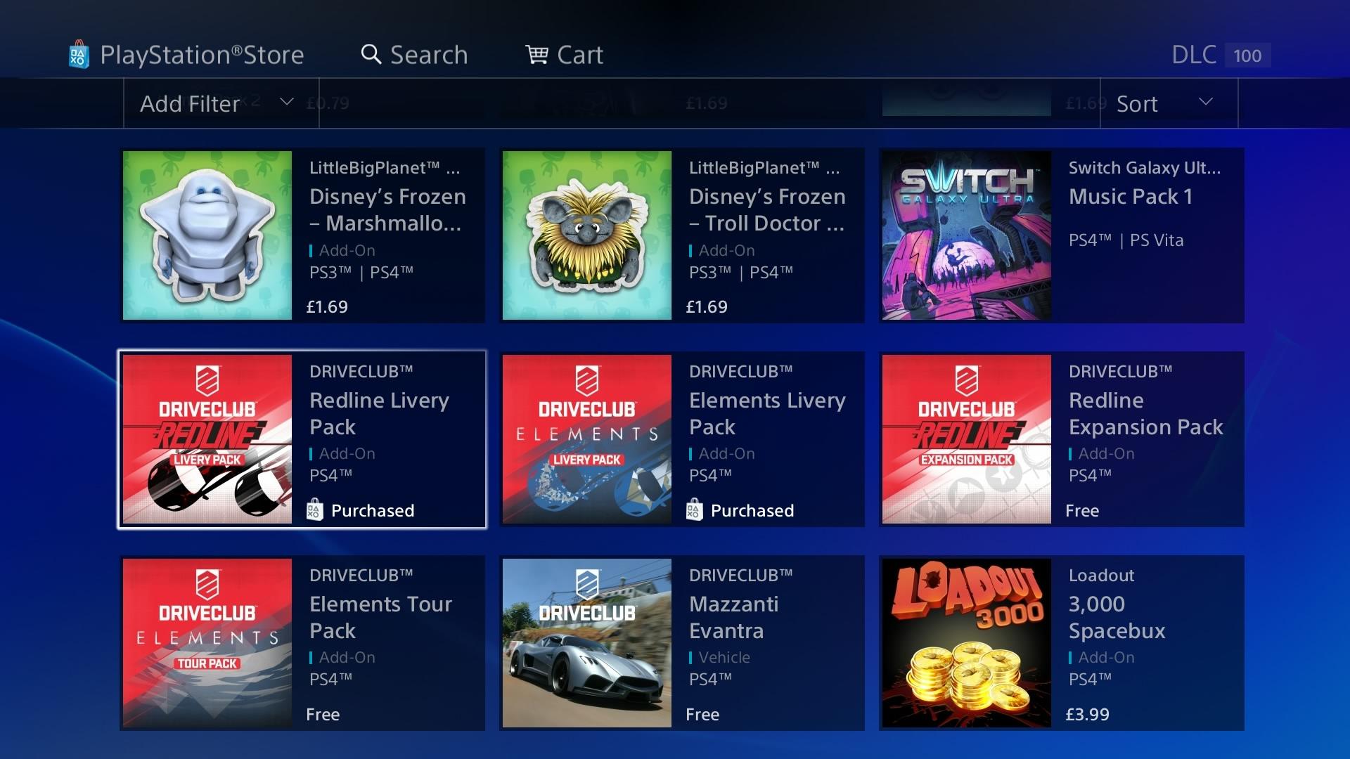 Driveclub PSN Store asset creation