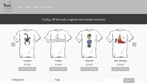 twistedstoat ecommerce Website
